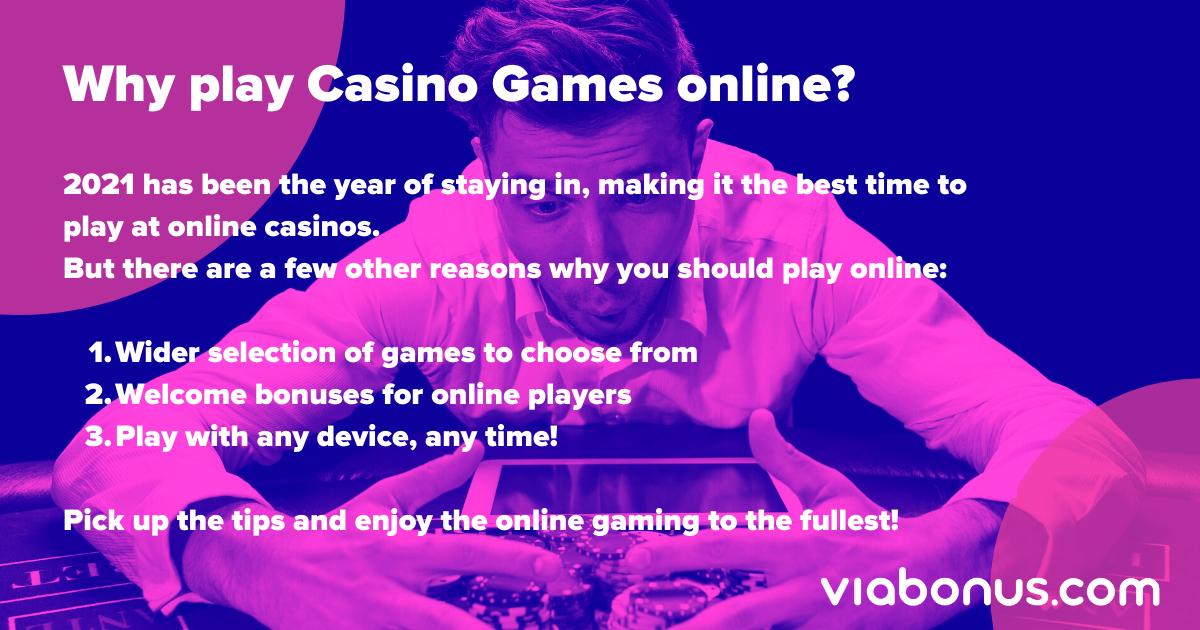 Why play Online Casino Games | Viabonus.com