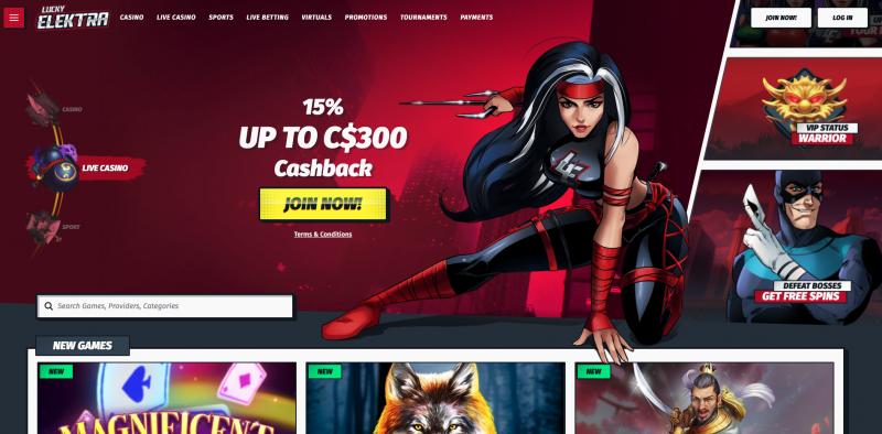 Lucky Elektra Superhero Casino | Viabonus.com