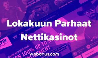 Lokakuun Parhaat Nettikasinot   Viabonus.com